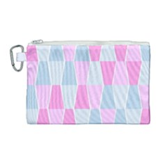 Geometric Pattern Design Pastels Canvas Cosmetic Bag (large)