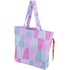 Geometric Pattern Design Pastels Drawstring Tote Bag by Samandel