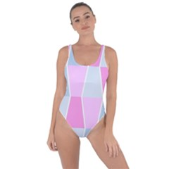 Geometric Pattern Design Pastels Bring Sexy Back Swimsuit