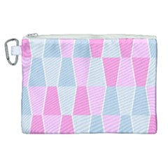 Geometric Pattern Design Pastels Canvas Cosmetic Bag (xl)