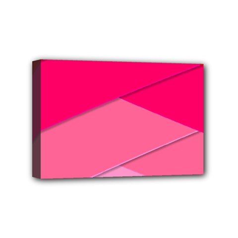 Geometric Shapes Magenta Pink Rose Mini Canvas 6  X 4  (stretched)