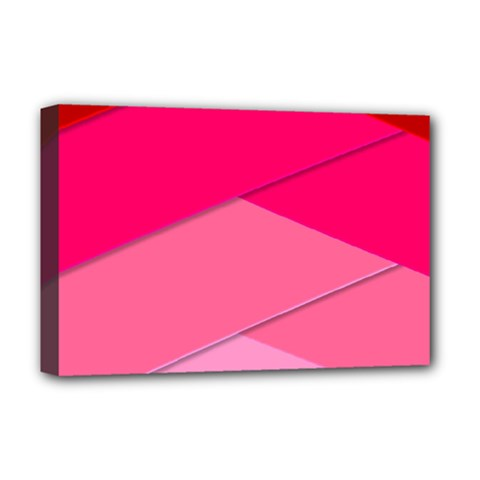Geometric Shapes Magenta Pink Rose Deluxe Canvas 18  X 12  (stretched)