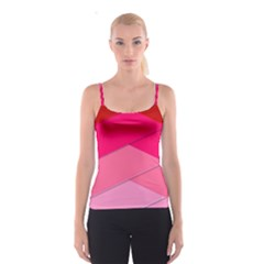 Geometric Shapes Magenta Pink Rose Spaghetti Strap Top