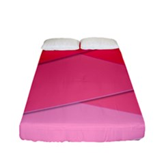 Geometric Shapes Magenta Pink Rose Fitted Sheet (full/ Double Size) by Samandel