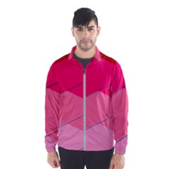 Geometric Shapes Magenta Pink Rose Windbreaker (men)