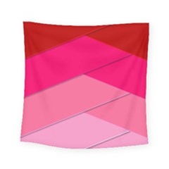 Geometric Shapes Magenta Pink Rose Square Tapestry (small)