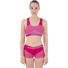 Geometric Shapes Magenta Pink Rose Work It Out Gym Set
