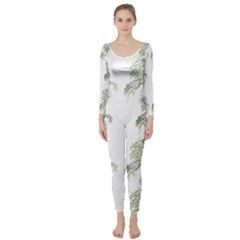 Trees Tile Horizonal Long Sleeve Catsuit