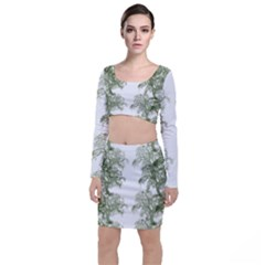 Trees Tile Horizonal Top And Skirt Sets