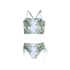 Trees Tile Horizonal Girls  Tankini Swimsuit