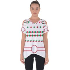 Christmas Borders Frames Holiday Cut Out Side Drop Tee