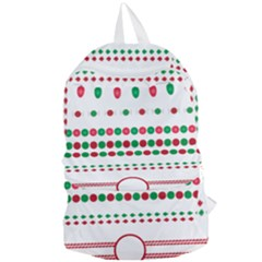 Christmas Borders Frames Holiday Foldable Lightweight Backpack