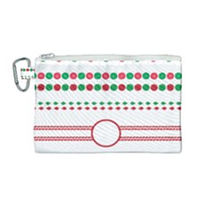 Christmas Borders Frames Holiday Canvas Cosmetic Bag (medium)