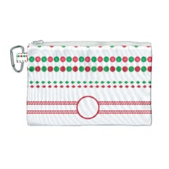 Christmas Borders Frames Holiday Canvas Cosmetic Bag (large)