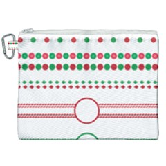 Christmas Borders Frames Holiday Canvas Cosmetic Bag (xxl)