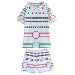 Christmas Borders Frames Holiday Kids  Swim Tee And Shorts Set