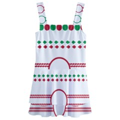 Christmas Borders Frames Holiday Kids  Layered Skirt Swimsuit by Samandel
