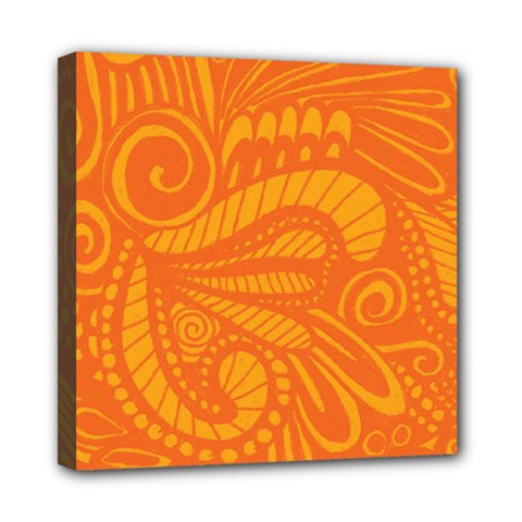 Pop Orange Mini Canvas 8  X 8  (stretched) by ArtByAmyMinori