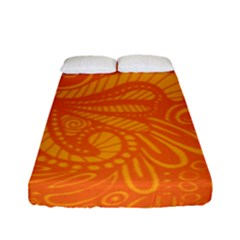 Pop Orange Fitted Sheet (full/ Double Size)