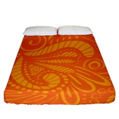 Pop Orange Fitted Sheet (queen Size) by ArtByAmyMinori