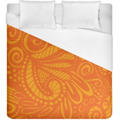 Pop Orange Duvet Cover (king Size)