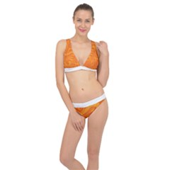 Pop Orange Classic Banded Bikini Set  by ArtByAmyMinori