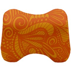 Pop Orange Head Support Cushion by ArtByAmyMinori