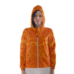 Pop Orange Hooded Windbreaker (women) by ArtByAmyMinori