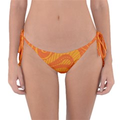 Pop Orange Reversible Bikini Bottom by ArtByAmyMinori
