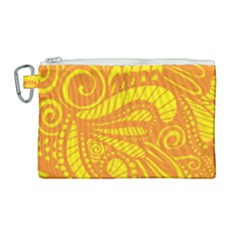 Pop Sunny Canvas Cosmetic Bag (large)