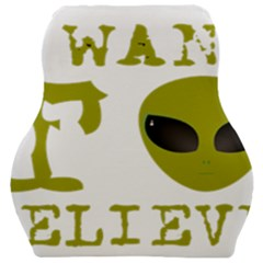 I Want To Believe Car Seat Velour Cushion