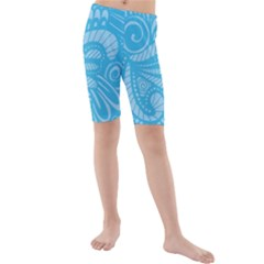 Pop Sky Kids  Mid Length Swim Shorts by ArtByAmyMinori