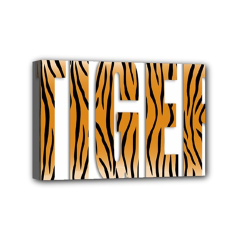 Tiger Bstract Animal Art Pattern Skin Mini Canvas 6  X 4  (stretched)