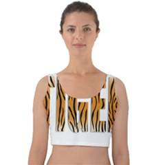 Tiger Bstract Animal Art Pattern Skin Velvet Crop Top