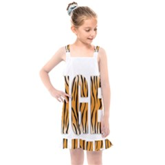 Tiger Bstract Animal Art Pattern Skin Kids  Overall Dress