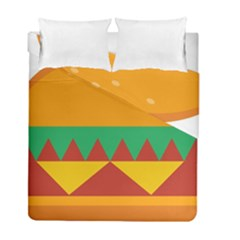 Burger Bread Food Cheese Vegetable Duvet Cover Double Side (full/ Double Size) by Samandel