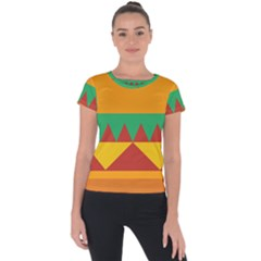 Burger Bread Food Cheese Vegetable Short Sleeve Sports Top