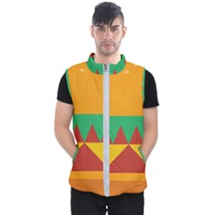 Burger Bread Food Cheese Vegetable Men s Puffer Vest