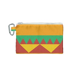 Burger Bread Food Cheese Vegetable Canvas Cosmetic Bag (small) by Samandel