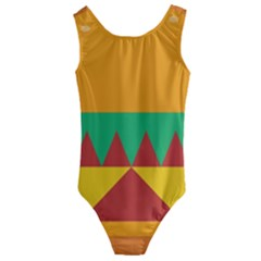 Burger Bread Food Cheese Vegetable Kids  Cut Out Back One Piece Swimsuit