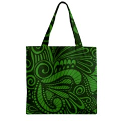 Natural Universe Zipper Grocery Tote Bag by ArtByAmyMinori