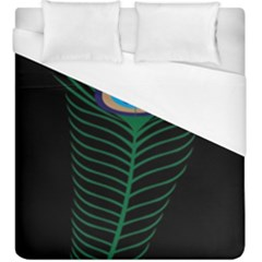 Peacock Feather Duvet Cover (king Size) by Samandel