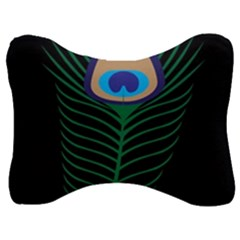Peacock Feather Velour Seat Head Rest Cushion