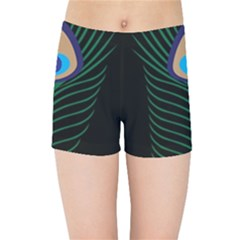 Peacock Feather Kids Sports Shorts
