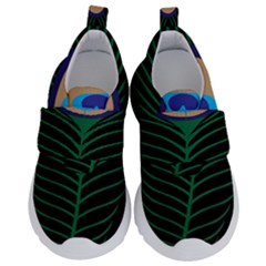 Peacock Feather Velcro Strap Shoes
