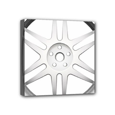 Wheel Skin Cover Mini Canvas 4  X 4  (stretched)
