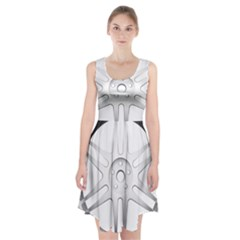 Wheel Skin Cover Racerback Midi Dress by Samandel