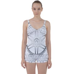 Wheel Skin Cover Tie Front Two Piece Tankini