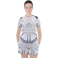 Wheel Skin Cover Women s Tee And Shorts Set