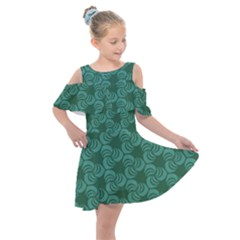 Layered Knots Kids  Shoulder Cutout Chiffon Dress by ArtByAmyMinori